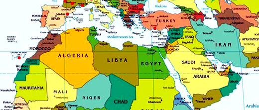 Mondo Arabo Cartina.Progetto Babele Il Sito Sezione Letteratura Araba